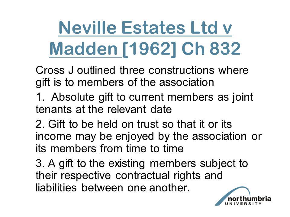 Neville Estates Ltd v Madden [1962] Ch 832